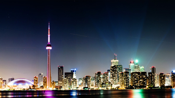 Toronto-at-night